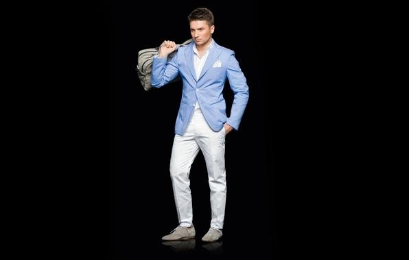 Photo wallpaper costume, male, singer, brunette, Sergey Lazarev