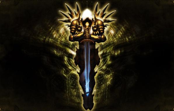 Wallpaper Blizzard, Diablo III, Angel, Sword, Wings, Video
