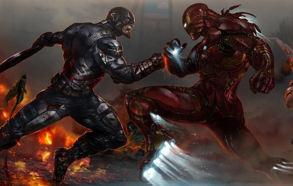 Picture marvel, Captain America, iron man, Marvel Comics, tony stark, civil war, Steven Rogers, The first …
