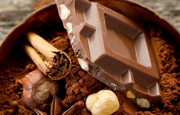 Picture food, chocolate, nuts, dessert, food, 1920x1200, sweet, chocolate, sweet, nuts, cocoa, dessert, cocoa