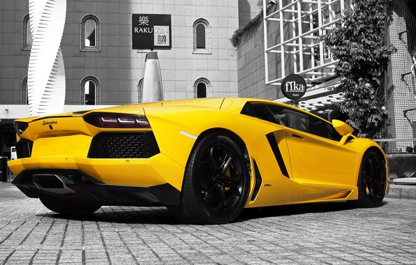 Picture yellow, Lamborghini, Lamborghini, yellow, Aventador, aventador, LP 700