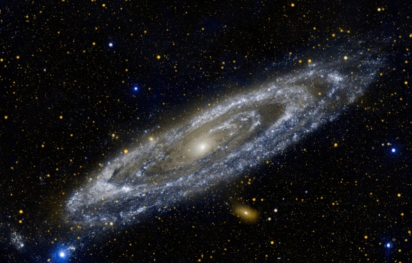 Picture stars, galaxy, young, ultraviolet, Andromeda, star formation, M31, GALEX, massive
