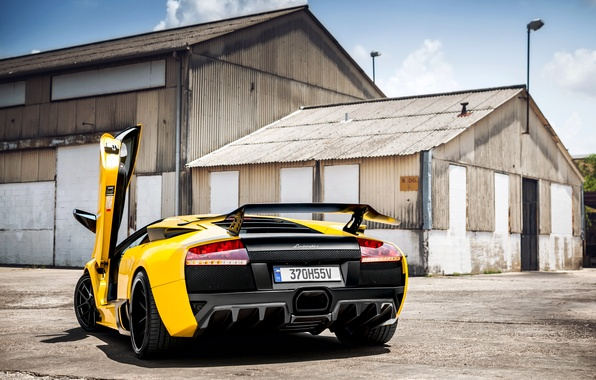 Picture machine, car, Lamborghini, Lamborghini Murcielago, Prestige Imports Miami, Golden Child