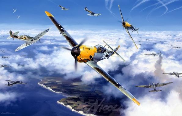 Picture Messer Schmit, me-109, Bf-109