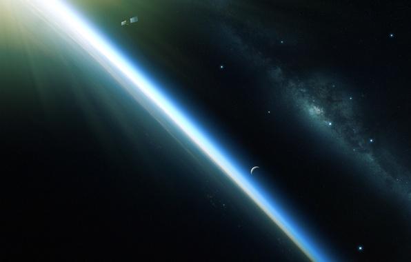 Picture planet, satellite, orbit, galaxy