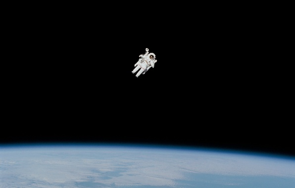 Picture space, darkness, planet, astronaut, the suit, Earth, NASA, the, astronaut, photo