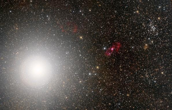 Picture space, stars, telescope