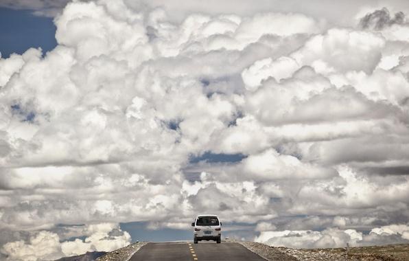 Picture road, machine, the sky, landscape