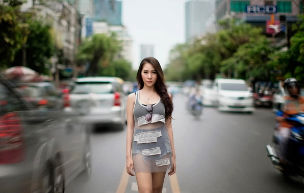 Picture look, the city, movement, street, girl