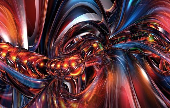 Picture fractals, glow, weave, fractal pattern