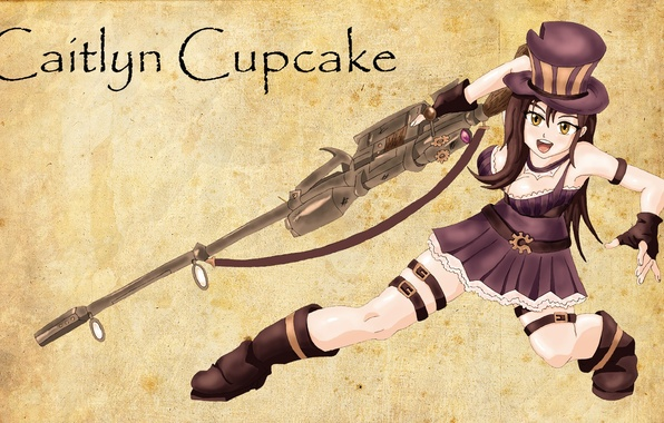 wallpaper anime league of legends caitlyn images for