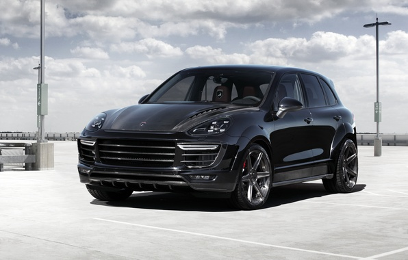 Picture black, Porsche, Porsche, Black, Cayenne, Cayenne, 2015, Topar