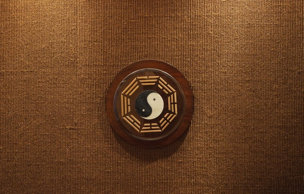 Picture background, tree, sign, texture, symbol, brown, beige, Yin-Yang