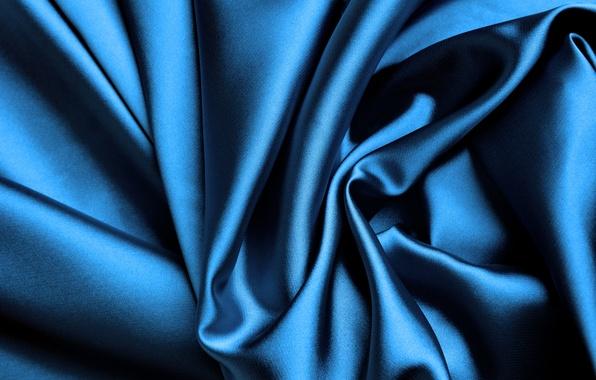 Picture blue, Shine, silk, fabric, folds, silk, satin