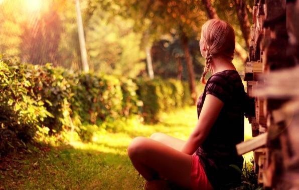 Picture summer, girl, light, mood