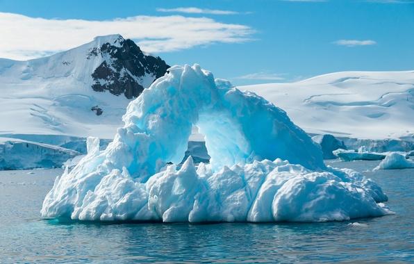 Picture ice, iceberg, ice, North, sea, winter, snow, sun, north, iceberg