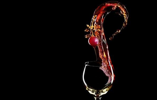 Picture wine, glass, cherry