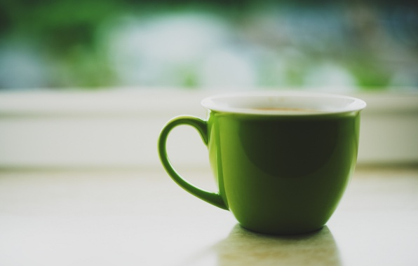 Picture mug, Cup, green