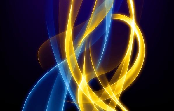 Picture light, line, flame, pattern, color, fractal