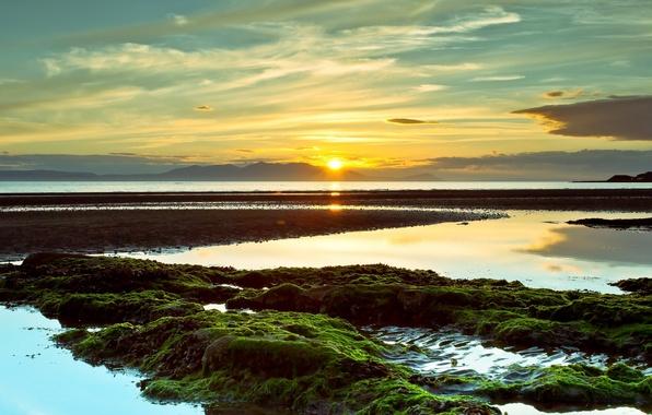 Picture landscape, sunset, nature, Bay
