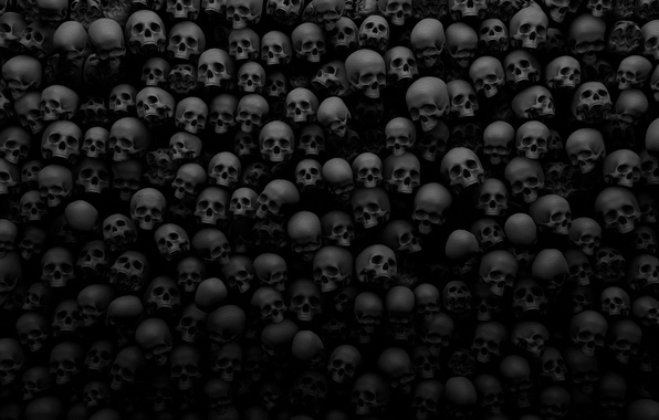 Picture darkness, the darkness, skull