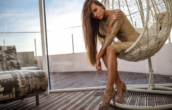 Picture hair, chair, dress, window, Angelina Petrova