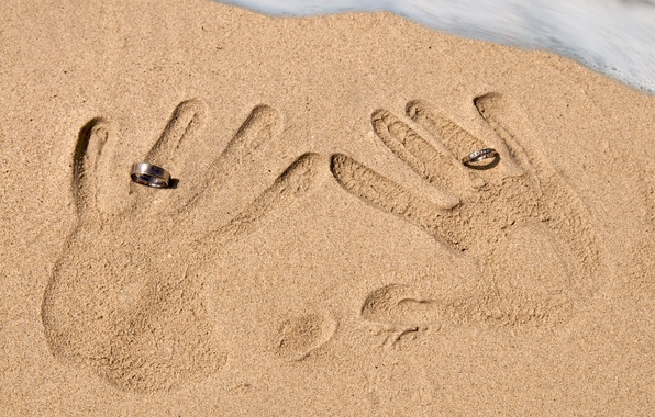 Picture sand, ring, prints