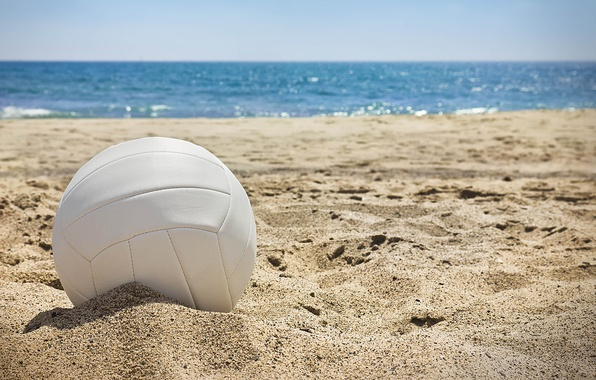 Picture sand, sea, wave, the sun, landscape, stay, the ball, positive, blur, day, summer, sun, sand, ...
