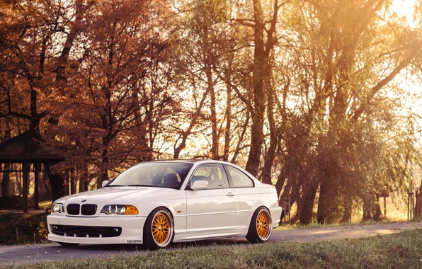 Picture BMW, White, BMW, COUPE, White, E46, Coupe, Stance, 323ci