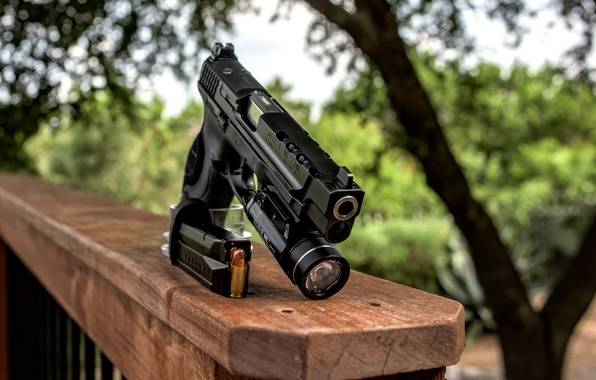 Picture gun, weapons, 9mm, Smith & Wesson
