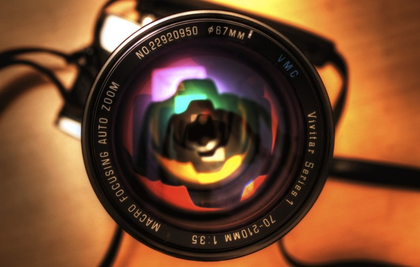 Picture HDR, Reflection, the camera, lens, rainbow, photography, camera, canon, canon eos 450d, Minolta Srt 101b, …