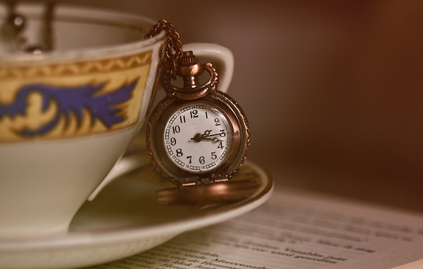 Picture watch, mug, Cup, a couple of tea, pocket