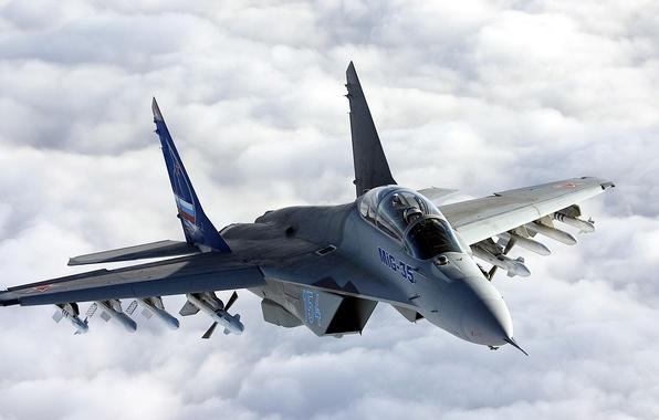 Picture aviation, Wallpaper, fighter, MiG, MiG - 35 Fulcrum F, Samolet