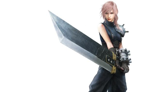 Photo Wallpaper Girl Sword Final Fantasy Lightning Costume Returns