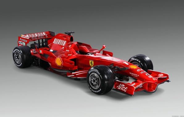 Picture red, Ferrari, the car, Formula-1