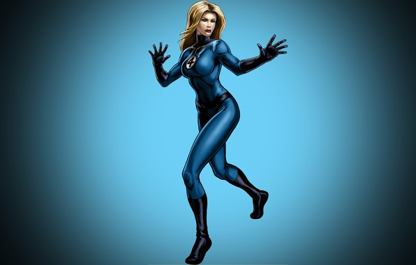 Picture girl, background, blonde, costume, comic, marvel, Marvel Comics, Fantastic Four, The Invisible Woman, Fantastic Four, …