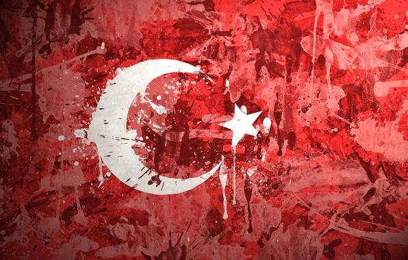 Picture paint, flag, Turkey, Of The Republic Of Turkey, Turkish republic