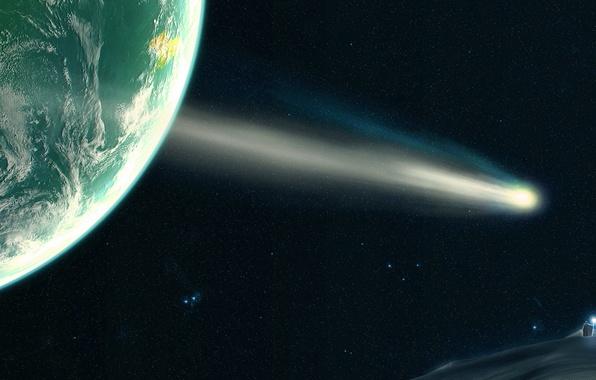 Picture light, the universe, God, planet, satellite, orbit