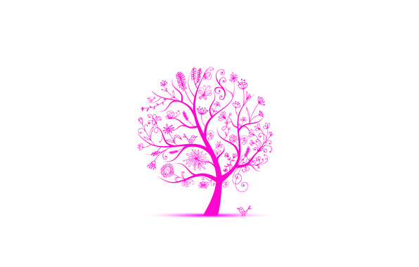 Picture leaves, flowers, birds, tree, spring