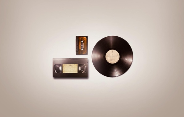 Picture minimalism, record, audio, magazine, minimal Wallpapers, Audio VHS, video