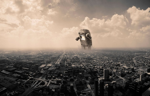 Picture clouds, monster, The city