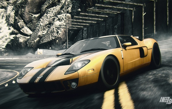 Photo Wallpaper Yellow Ford Gt Nfs Need For Speed Rivals