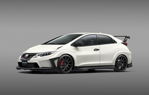 Picture white, Honda, Honda, Civic, civici, Type R, Mugen