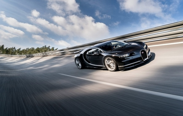 Picture the sky, background, Bugatti, Bugatti, supercar, the front, hypercar, Chiron, Chiron