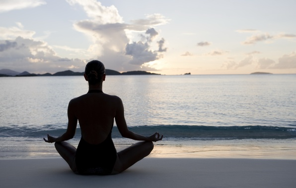 Wallpaper sunset, pose, yoga images for desktop, section ...  Wallpaper sunse...