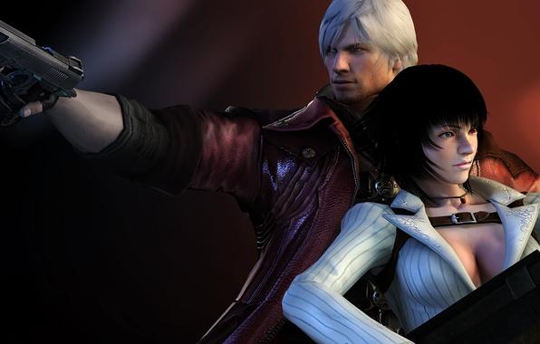 Picture gun, pair, Lady, hunter, Dante, red coat, Dante, DMC 4, Devil may cry 4, game …
