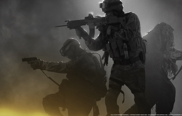 Picture weapons, soldiers, sniper, Modern Warfare 2, call of duty, special forces
