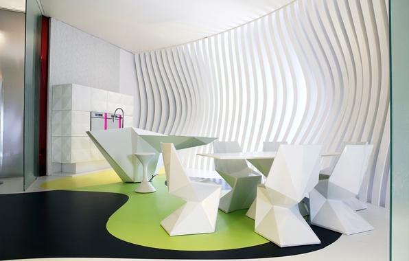 Picture design, house, style, Villa, interior, kitchen, dining room, modern design