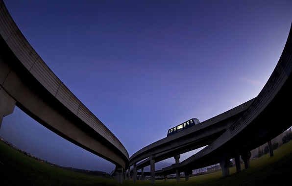 Picture the sky, Road, overpass, bus