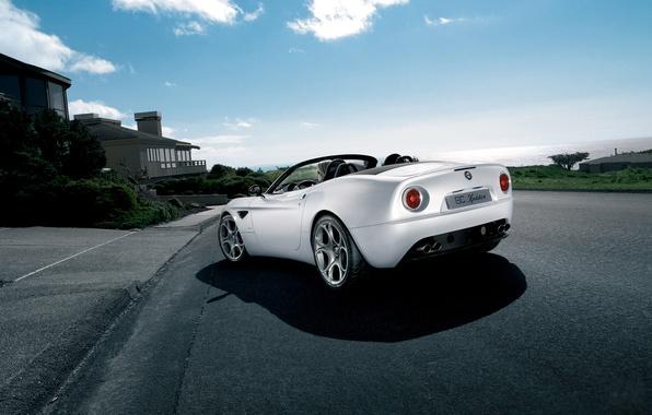 Picture road, machine, the sky, clouds, home, alfa romeo, road, auto, clouds, Alfa Romeo